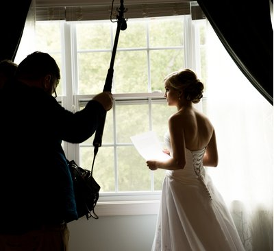 A bride prepares for a wedding in Charlotte, NC