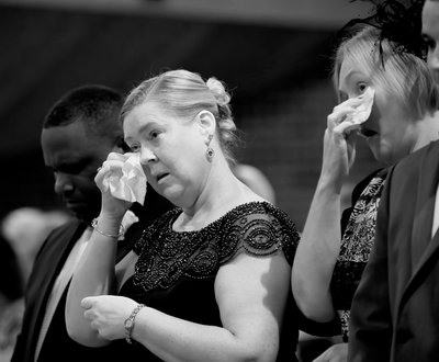 Image :: Tears of joy at a wedding ceremony at St Thomas Aquinas Church in Charlotte, NC