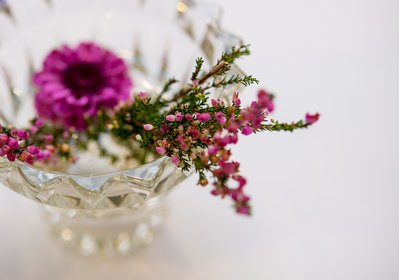 Table decorations for a wedding at the Hiltoton Garden Inn in Raleigh, NC