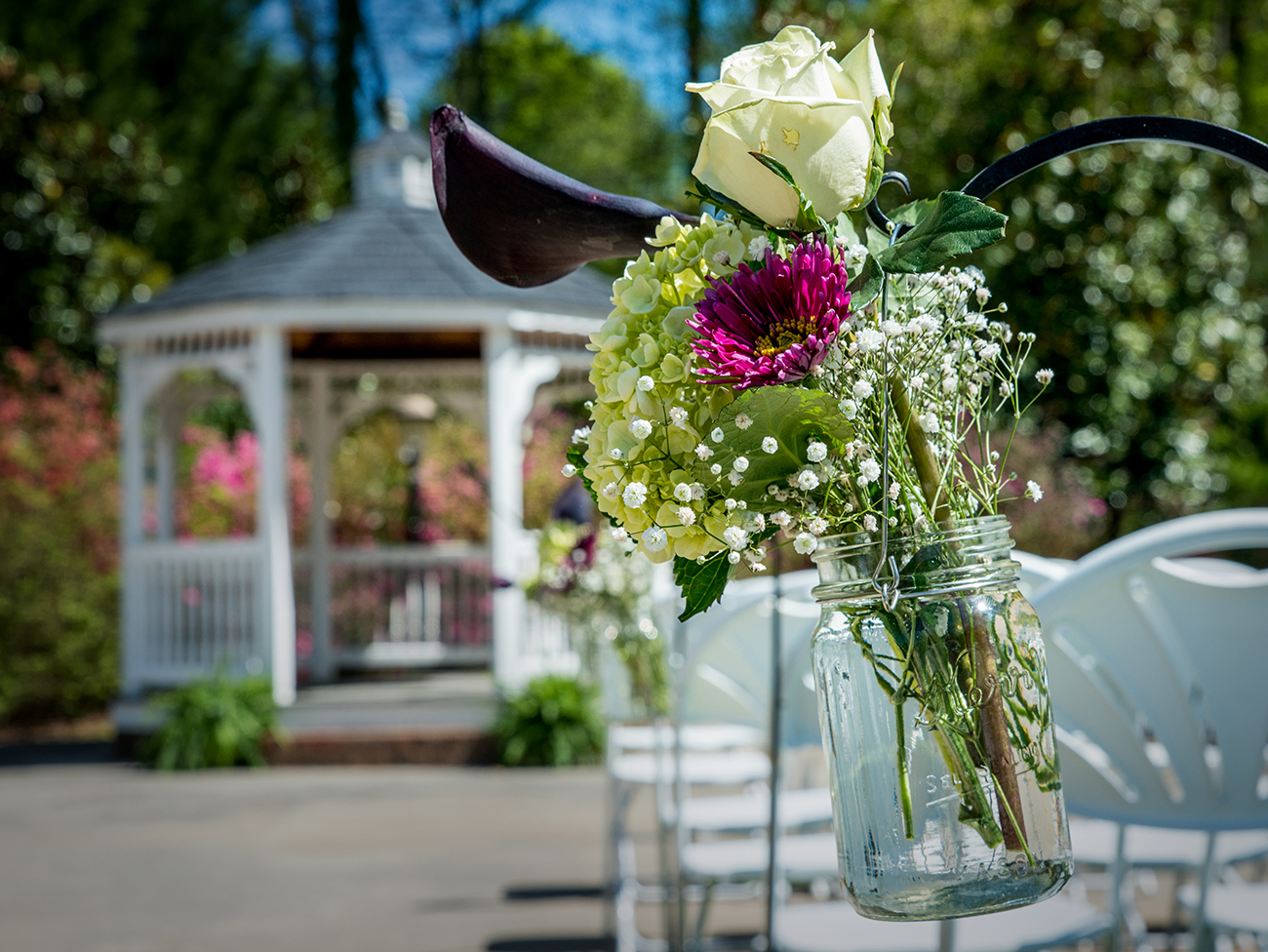 Gazebo at a Tuscany Garden wedding in Greensboro, NC