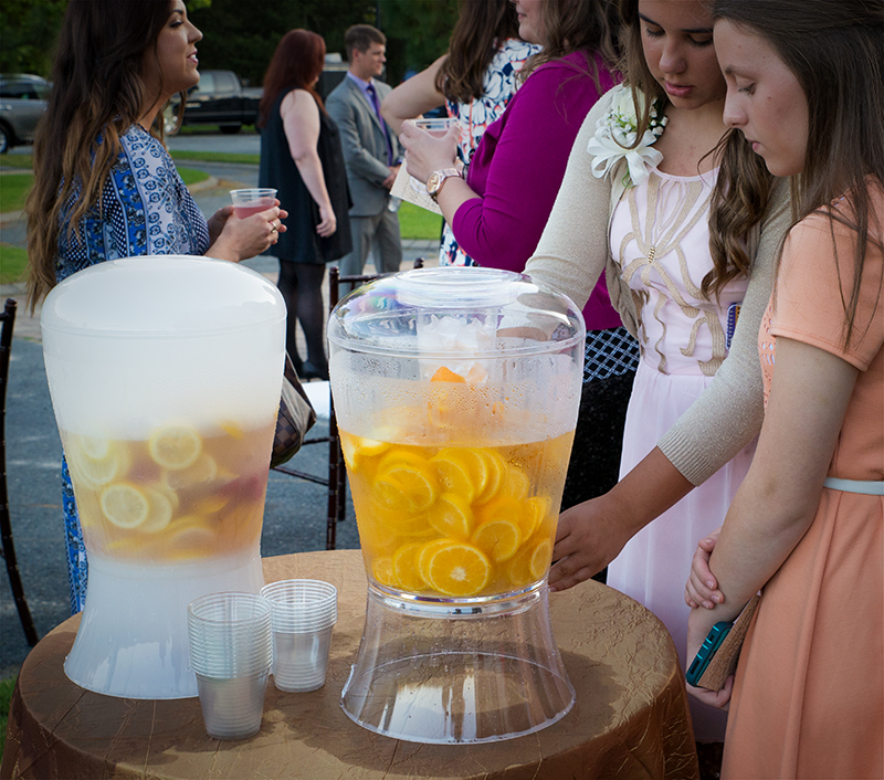 refreshments at a wedding in Southern Pines, NC